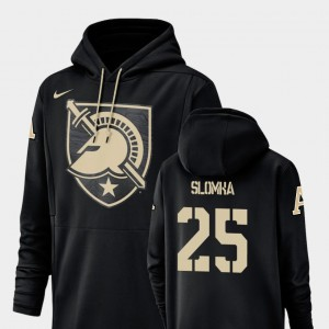 Connor Slomka College Hoodie Football Performance Black #25 Champ Drive For Men's Army