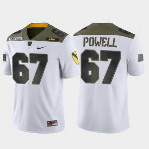 Dean Powell College Jersey Limited Edition Westpoint White 1st Cavalry Division #67 For Men's