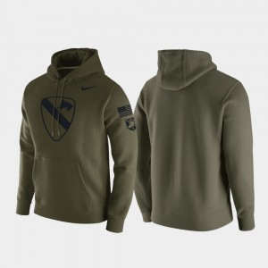 1st Cavalry Division Mens Green College Hoodie Army