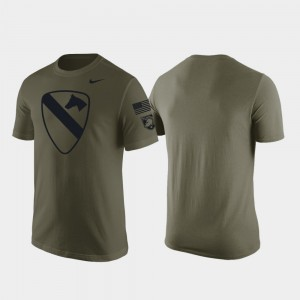 Green College T-Shirt For Men 1st Cavalry Division Westpoint