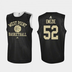 Practice Black #52 John Emezie College Jersey For Men Army West Point Basketball