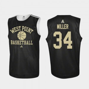 #34 Black Army West Point Practice Basketball For Men John Miller College Jersey