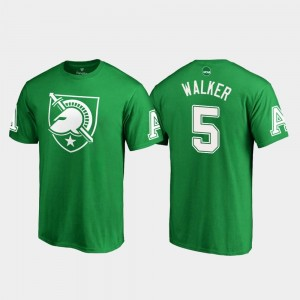 United States Military Academy White Logo Kell Walker College T-Shirt For Men St. Patrick's Day #5 Kelly Green