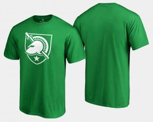 White Logo Big & Tall Mens Kelly Green United States Military Academy College T-Shirt St. Patrick's Day