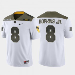 Men #8 Army 1st Cavalry Division White Limited Edition Kelvin Hopkins Jr. College Jersey