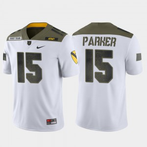 Men 1st Cavalry Division White Ryan Parker College Jersey West Point #15 Limited Edition