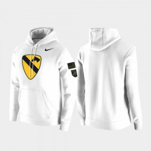 Army For Men College Hoodie 1st Cavalry Division White