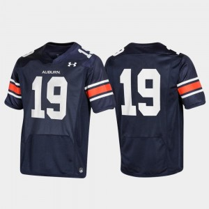 #19 Replica Tigers For Men's Navy College Jersey