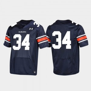 College Jersey Football AU For Men's Replica Navy #34