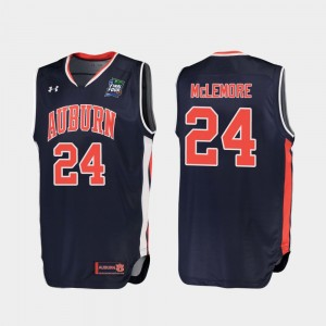2019 Final-Four Anfernee McLemore College Jersey Navy Replica For Men #24 Tigers