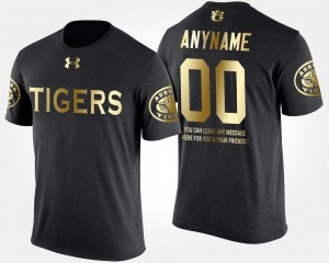 Gold Limited Black AU College Customized T-Shirt For Men's Short Sleeve With Message #00