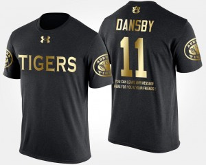 Gold Limited Short Sleeve With Message #11 AU Karlos Dansby College T-Shirt Mens Black