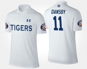 Karlos Dansby College Polo White For Men #11 Auburn Tigers