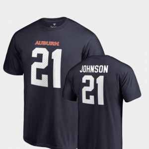 Name & Number Kerryon Johnson College T-Shirt For Men's #21 Navy Legends AU