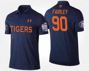 Nick Fairley College Polo #90 Tigers For Men Peach Bowl Bowl Game Navy