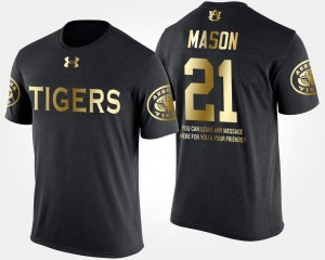 Short Sleeve With Message #21 Black Gold Limited Tre Mason College T-Shirt Tigers Men's