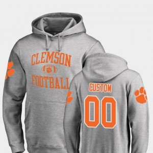#00 Neutral Zone Football Ash Clemson National Championship College Customized Hoodie Men's