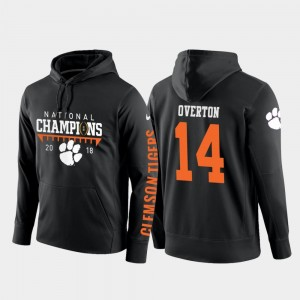 Football Pullover For Men's Diondre Overton College Hoodie Black Clemson National Championship 2018 National Champions #14
