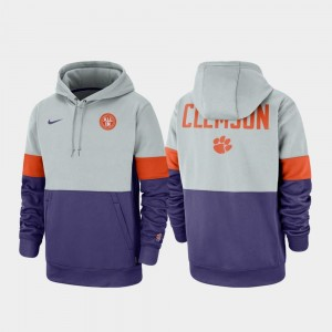 Rivalry College Hoodie Clemson National Championship Men's Therma Performance Pullover Gray Purple