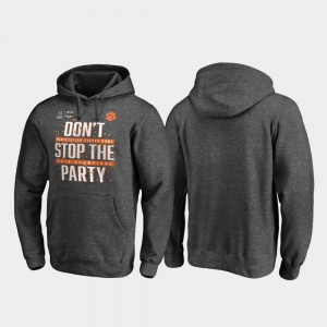 CFP Champs College Hoodie For Men 2019 Fiesta Bowl Champions Football Playoff Receiver Heather Gray