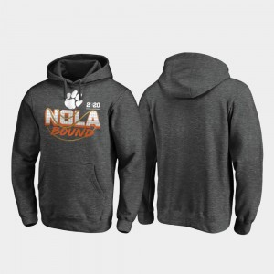 College Hoodie Heather Gray Clemson Mens Football Playoff Defensive 2020 National Championship Bound