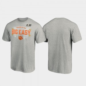 Post Football Playoff 2020 National Championship Bound For Men College T-Shirt Heather Gray Clemson University