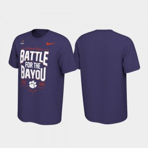 Men's 2019 Football Playoff Bound Purple Battle For The Bayou Clemson Tigers College T-Shirt