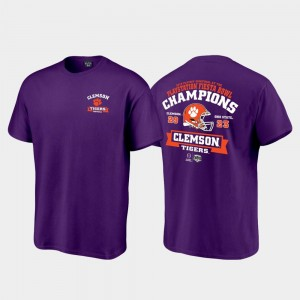 CFP Champs For Men's 2019 Fiesta Bowl Champions College T-Shirt Purple Score Football Playoff