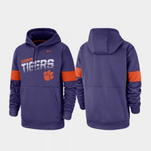 Purple Pullover College Hoodie For Men's Performance Clemson Tigers