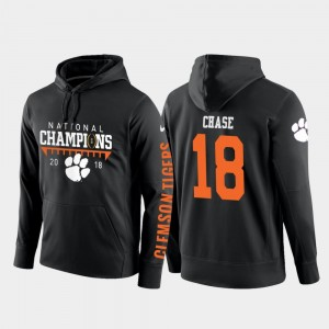 CFP Champs Black T.J. Chase College Hoodie Football Pullover 2018 National Champions #18 For Men