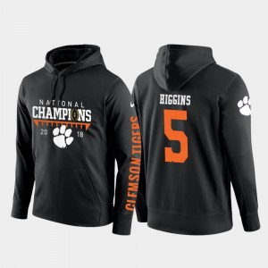 Football Pullover Mens CFP Champs #5 2018 National Champions Tee Higgins College Hoodie Black