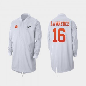 For Men White CFP Champs Trevor Lawrence College Jacket Full-Zip Sideline 2019 Football Playoff Bound #16