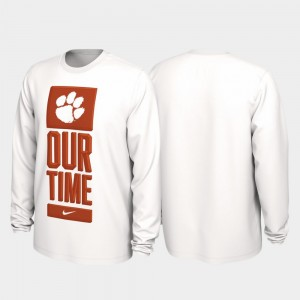 Clemson National Championship College T-Shirt Men's Our Time Bench Legend White 2020 March Madness