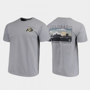 College T-Shirt Gray Campus Scenery Comfort Colors Colorado For Men