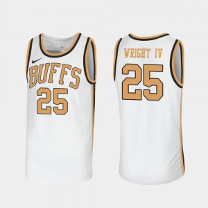 Throwback McKinley Wright IV College Jersey Sox Walseth-Era CU Buffs White For Men's #25