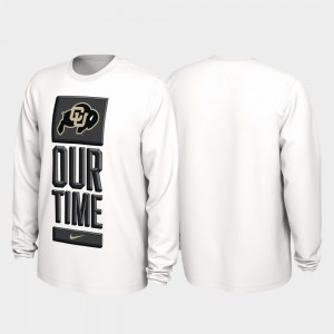 White Buffs College T-Shirt Our Time Bench Legend For Men 2020 March Madness