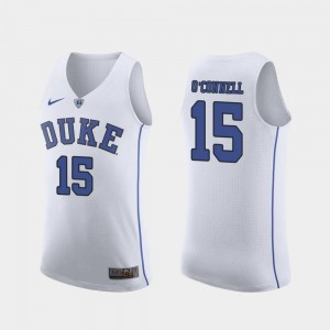 Authentic Duke March Madness Basketball White #15 For Men's Alex O'Connell College Jersey