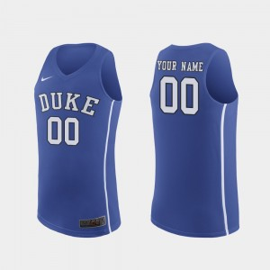 March Madness Basketball Royal Authentic For Men College Customized Jerseys #00 Duke Blue Devils