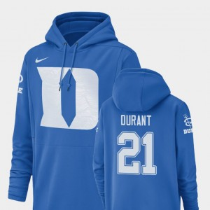 Champ Drive #21 Football Performance For Men's Mataeo Durant College Hoodie Royal Blue Devils