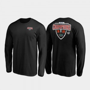 University of Florida 2019 Orange Bowl Champions For Men's College T-Shirt Black Hometown Lateral Long Sleeve