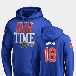 #18 Royal Counter For Men 2018 Peach Bowl Bound University of Florida Daquon Green College Hoodie