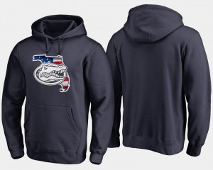 College Hoodie Navy Gator For Men's Big & Tall Banner State