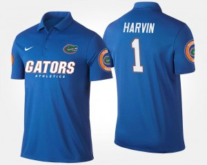 Percy Harvin College Polo Mens #1 Blue Florida