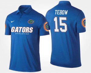 #15 Tim Tebow College Polo For Men's Blue University of Florida
