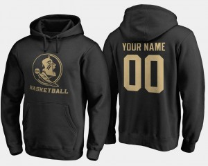 Florida State #00 College Customized Hoodie Basketball - Mens Black