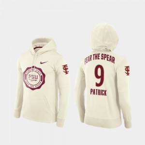 Rival Therma Football Pullover Cream Men's Florida ST #9 Jacques Patrick College Hoodie