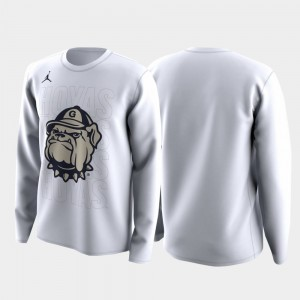 White College T-Shirt Georgetown Family on Court March Madness Legend Basketball Long Sleeve For Men's