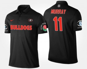 Aaron Murray College Polo Bowl Game Georgia Southeastern Conference Rose Bowl #11 Men's Black