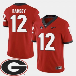 Mens UGA #12 Football Red 2018 SEC Patch Brice Ramsey College Jersey