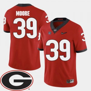 2018 SEC Patch #39 Corey Moore College Jersey Red Football UGA Bulldogs Mens